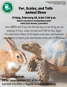 Fur, Scales, and Tails flyer: bunny and turtle