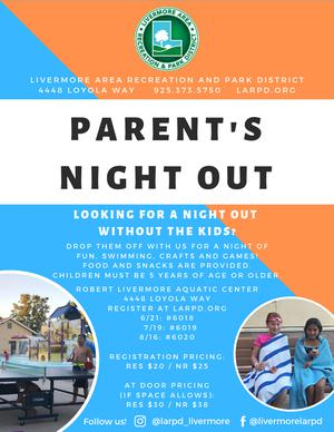 Parent's Night Out Flyer